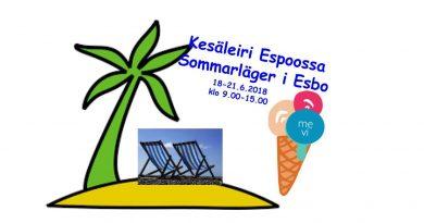 Kesäleiri 18-21.6.2018 Sommarläger